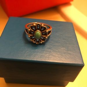 James Avery De Flores Ring Turquoise stone